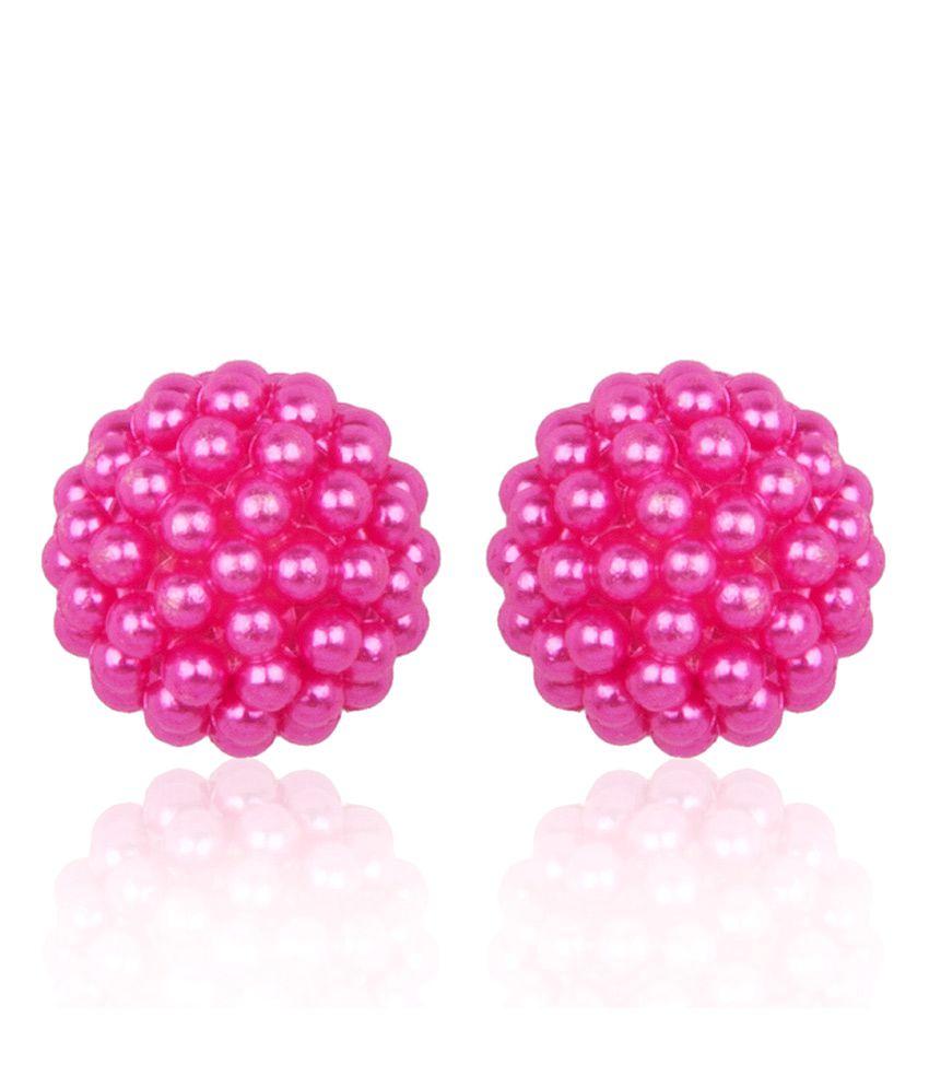 Diva Walk pink Studs Earrings Single Pair
