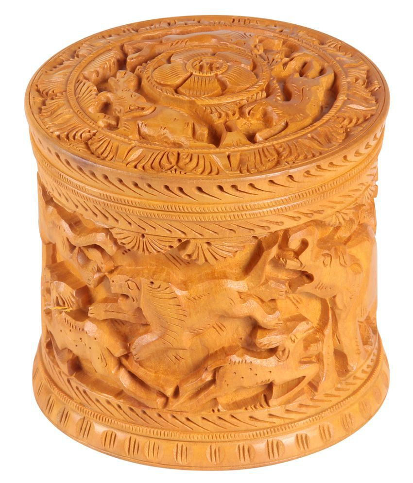 Fab Handicraft Brown  Wood Jewellery Box