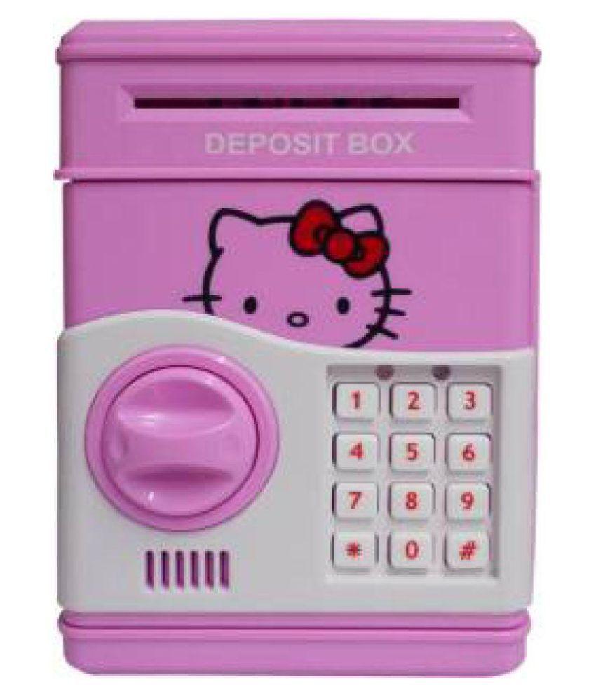 sheeshaa piggy bank cartoon cash coin can password atm money box