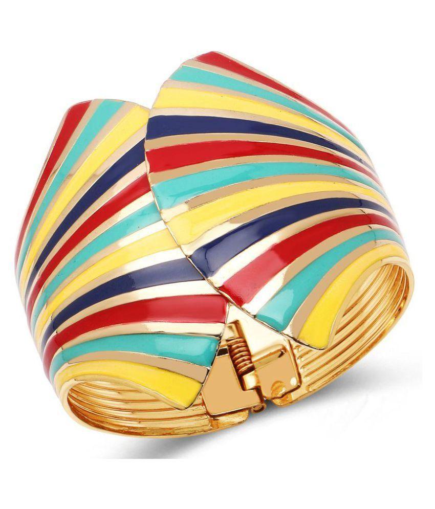 Johareez Elegant Multicolour Enemal Cuff