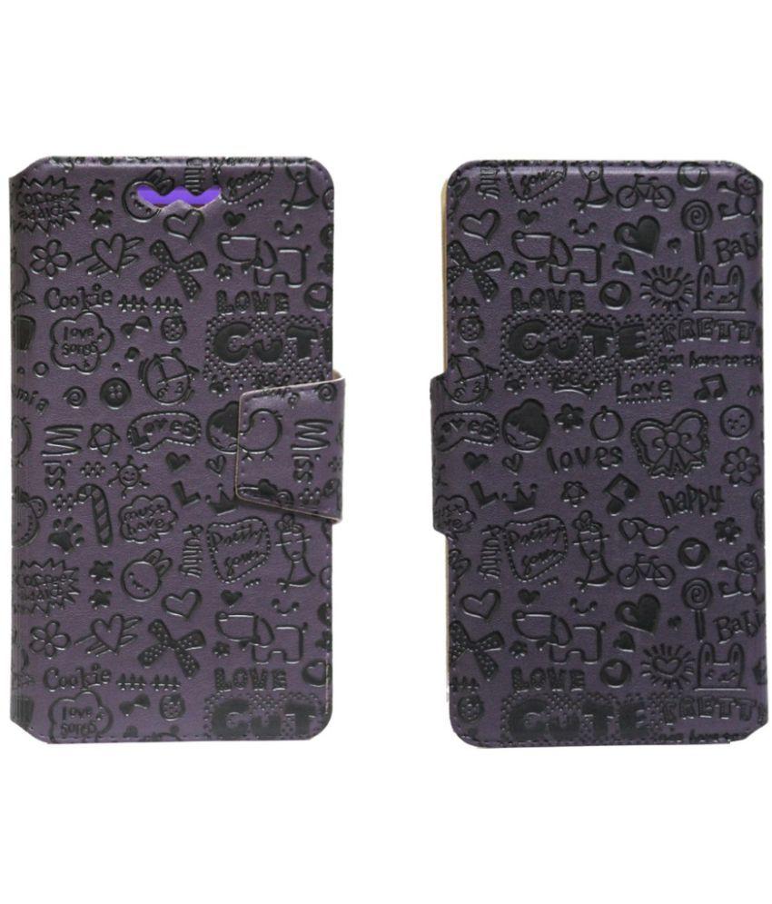 Panasonic P66 Mega Flip Cover by Jojo - Purple