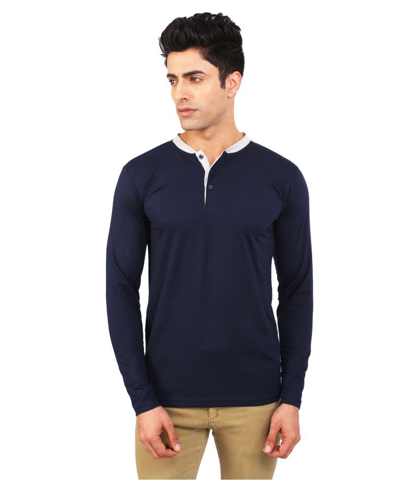 BKS Collection Blue Henley T-Shirt