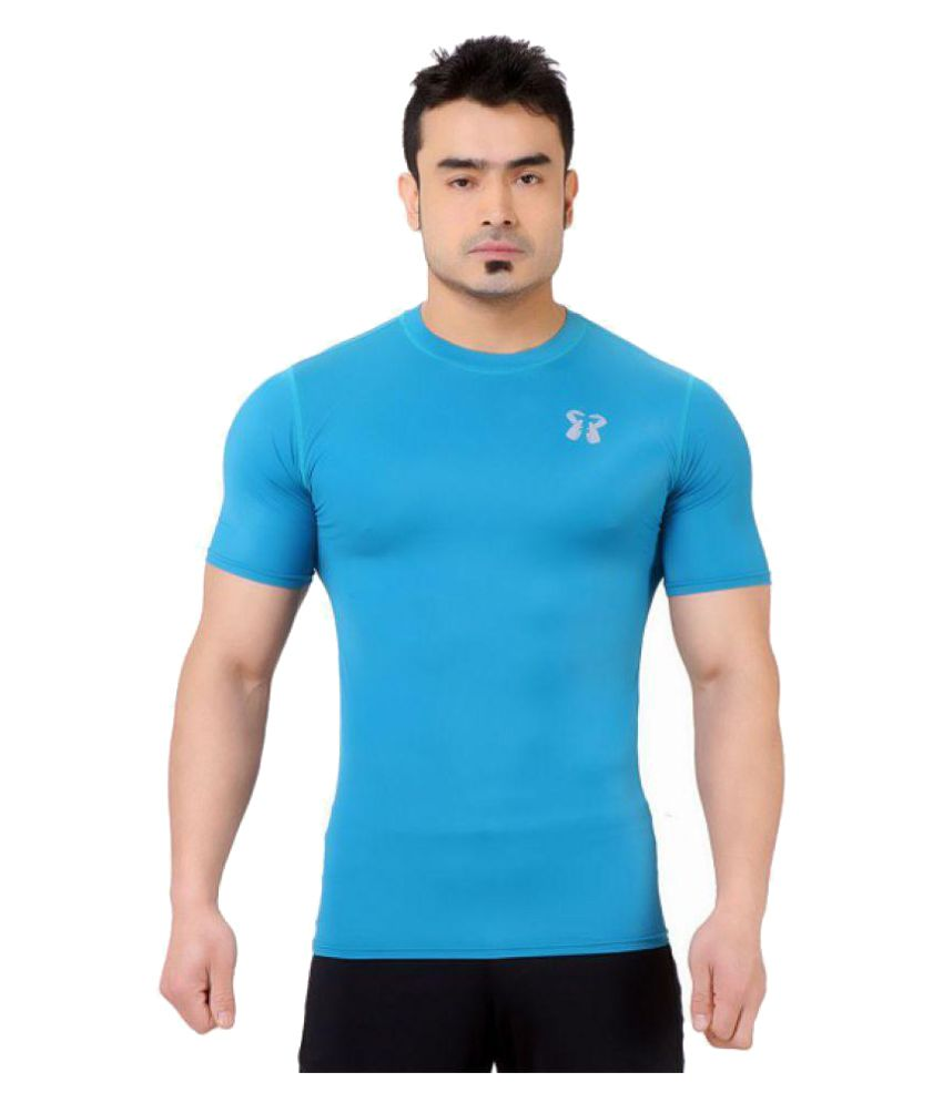 Core Athletics Blue Nylon T-Shirt Single Pack