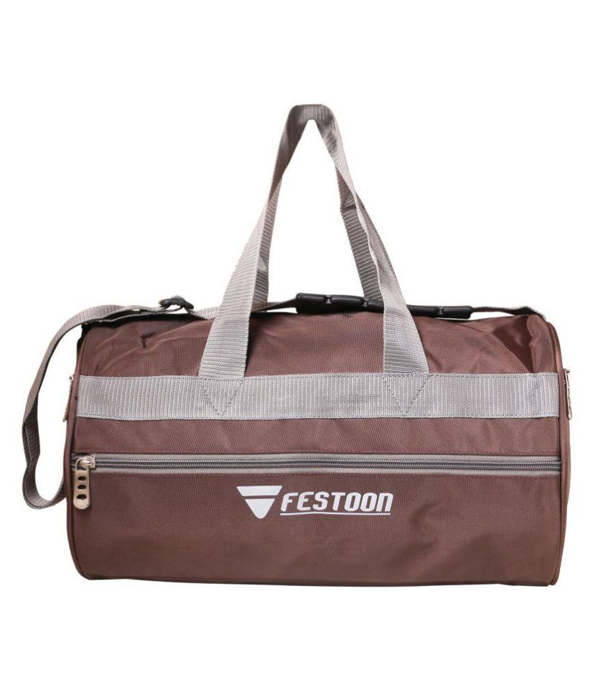 Festoon Brown Gym Bag