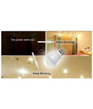MTC 7W LED Intelligent Bulb With Power Back-up Cum Emergency Light Feature  - Pack of 2