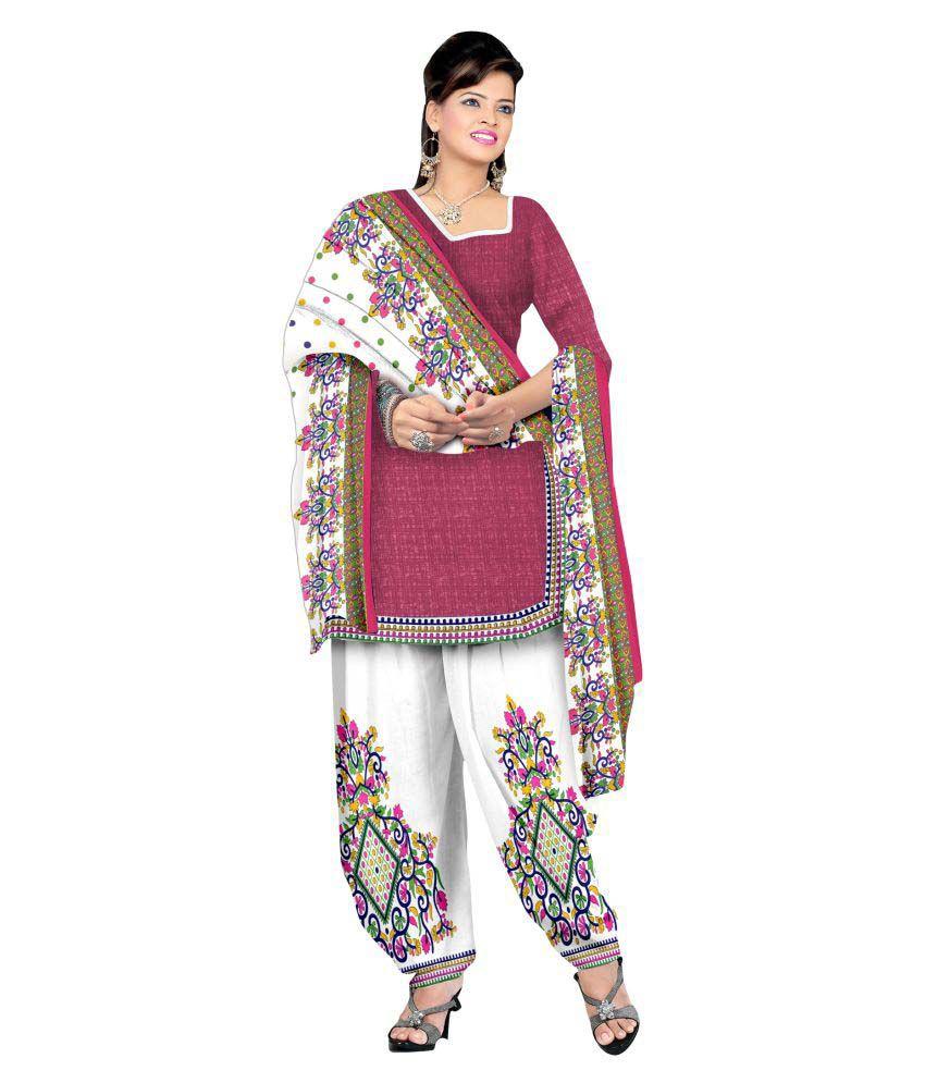 Hasti Urmilla Maroon Crepe Dress Material