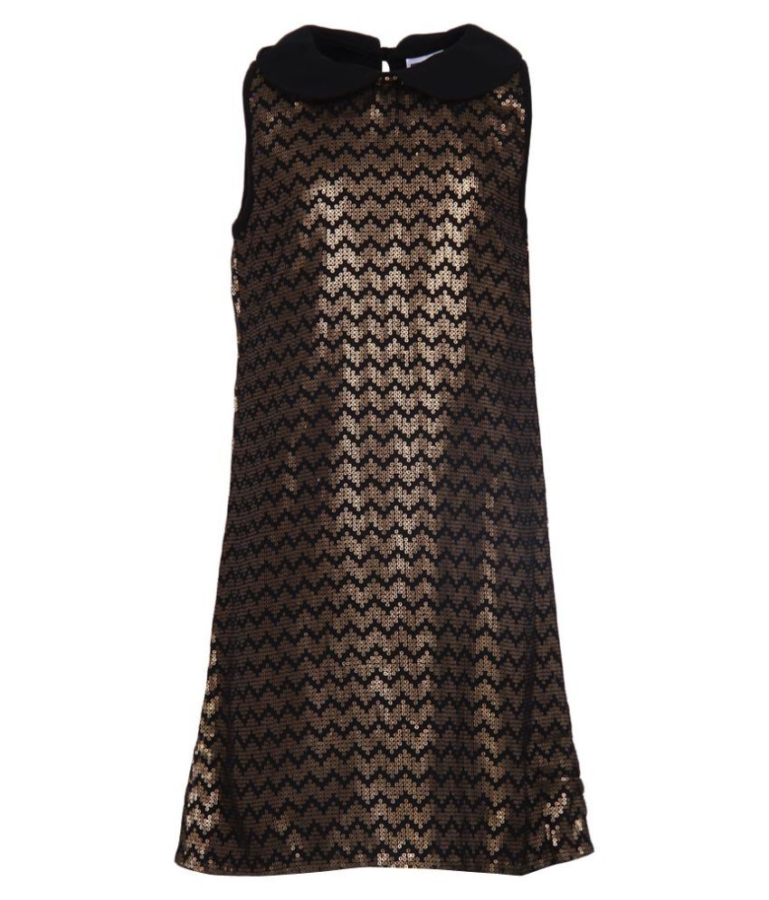 612 League Black Sequined A Line Dress at snapdeal