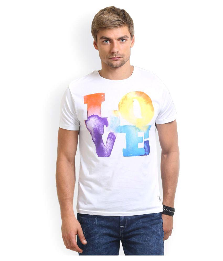 HW White Round T-Shirt