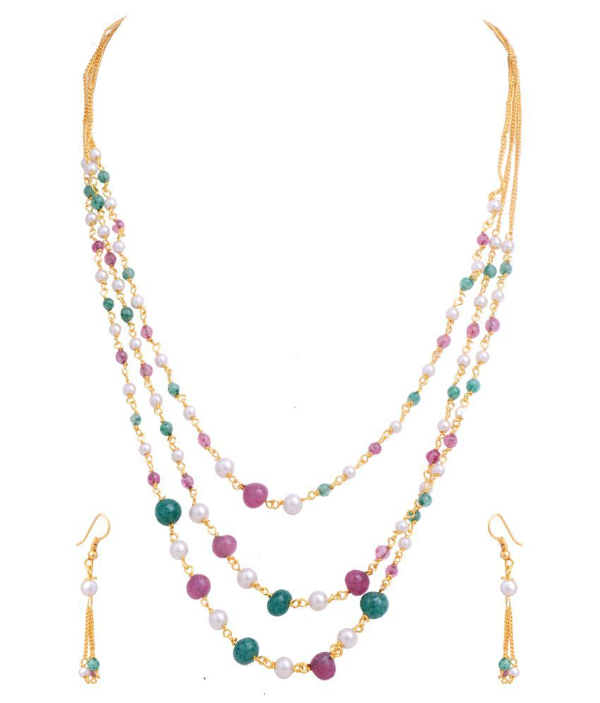 Hyderabad Jewels Beautiful Tar Mala Chain Set