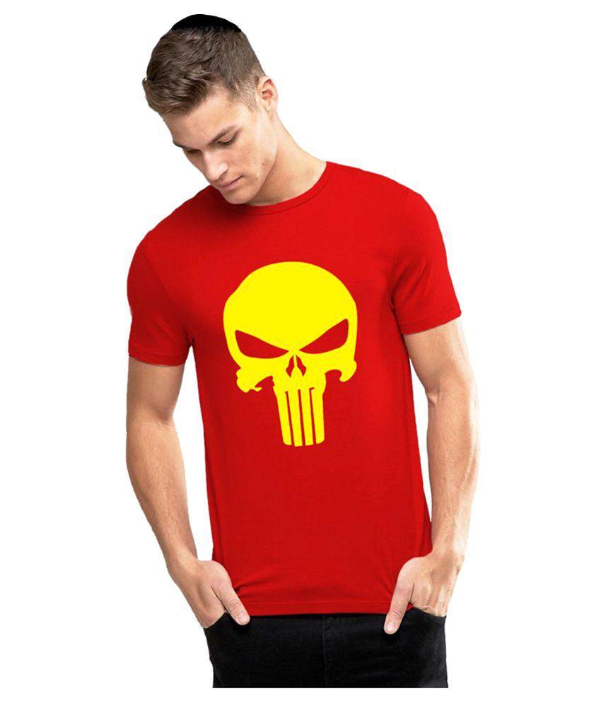 Alen Carter Red Round T-Shirt