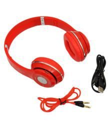 CouchCommando S460 Over Ear Wireless Headphones With Mic RED
