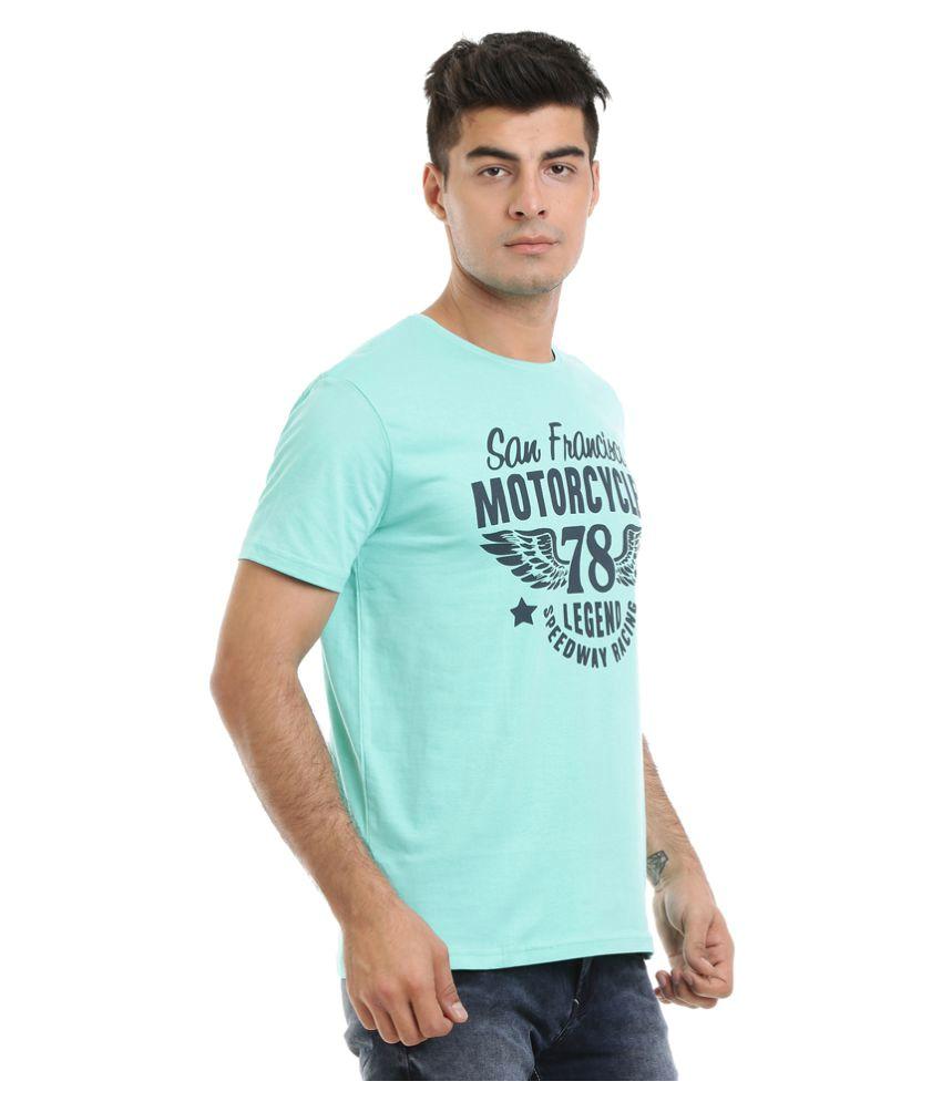 HW Blue Round T-Shirt
