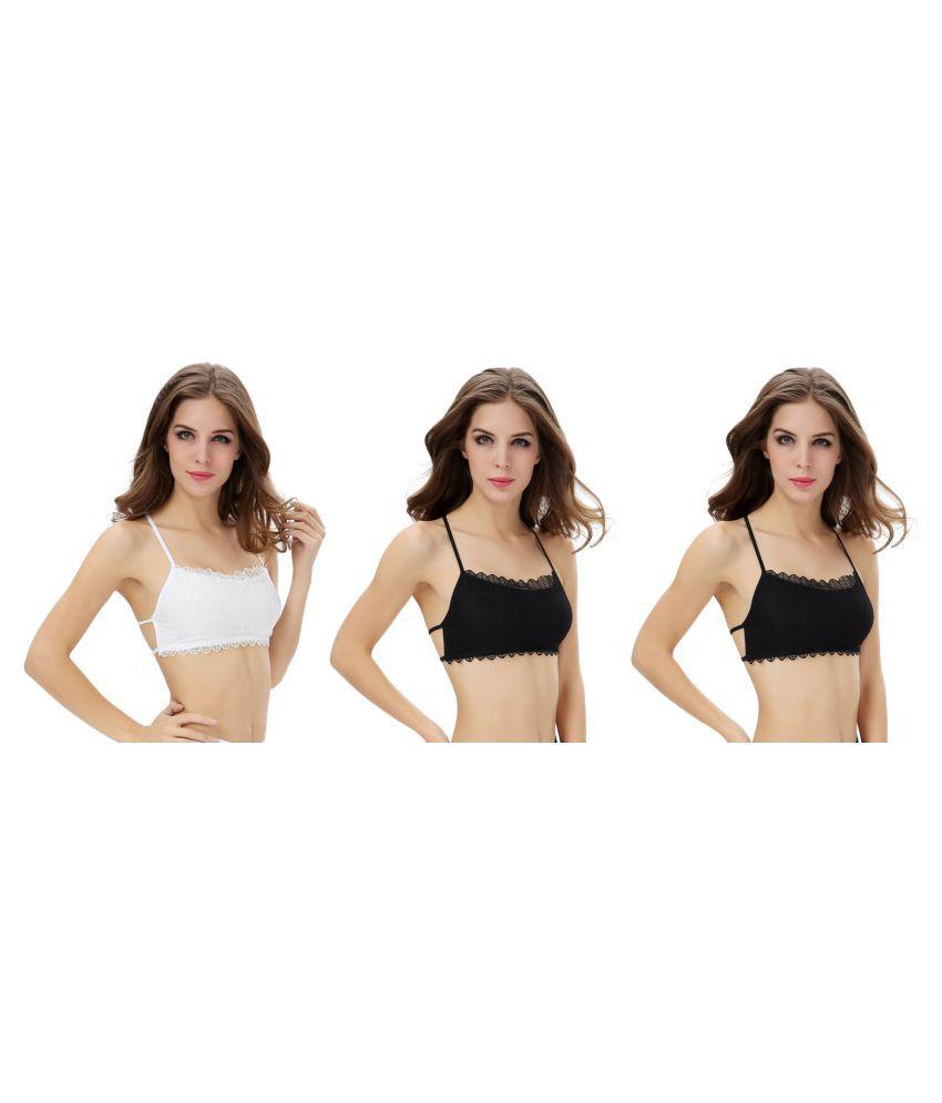 Dealseven Fashion White Lace Bralette