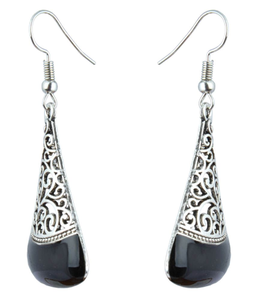 bf741be952b25 Waama Jewels Hanging Earring Silver Plated College Wear Oxidised Earring  for Girl Artificial Jewellery Vintage Fashion