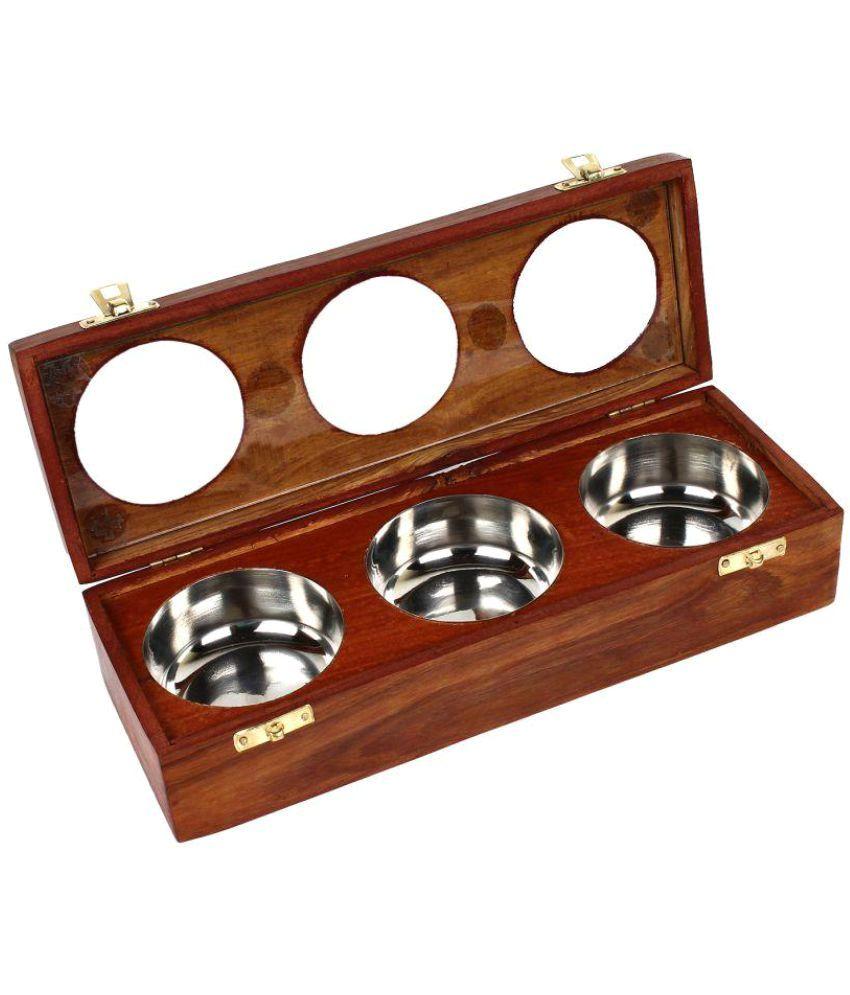 Artshai Wooden Spice Container Set of 1