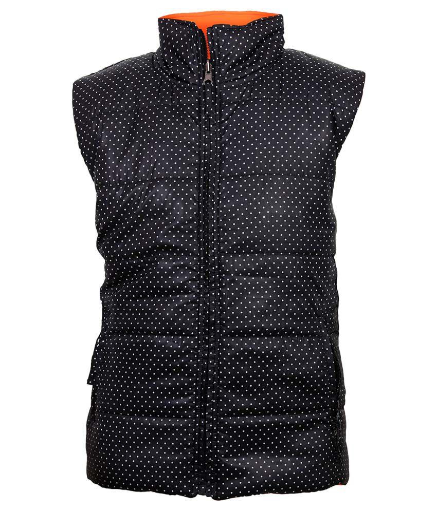 Gini & Jony Gray Polka Dot Printed Regular Fit High Neck Jacket