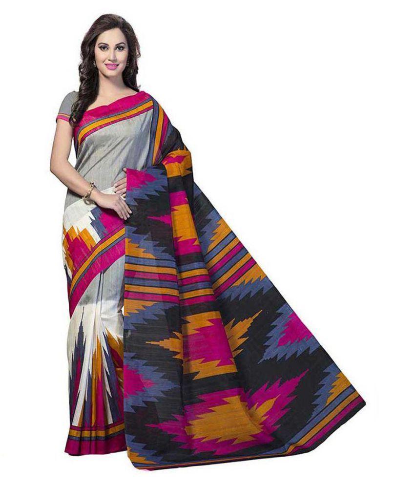 Gitanjali Fashions Multicoloured Cotton Silk Saree