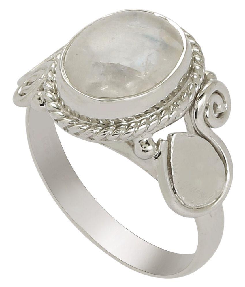 Shine Jewel 92.5 Silver Moonstone Ring