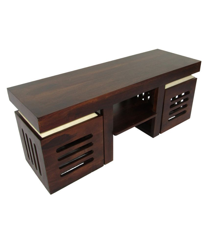 woodfaber 2 seater coffee center table stool set buy woodfaber 2 rh snapdeal com