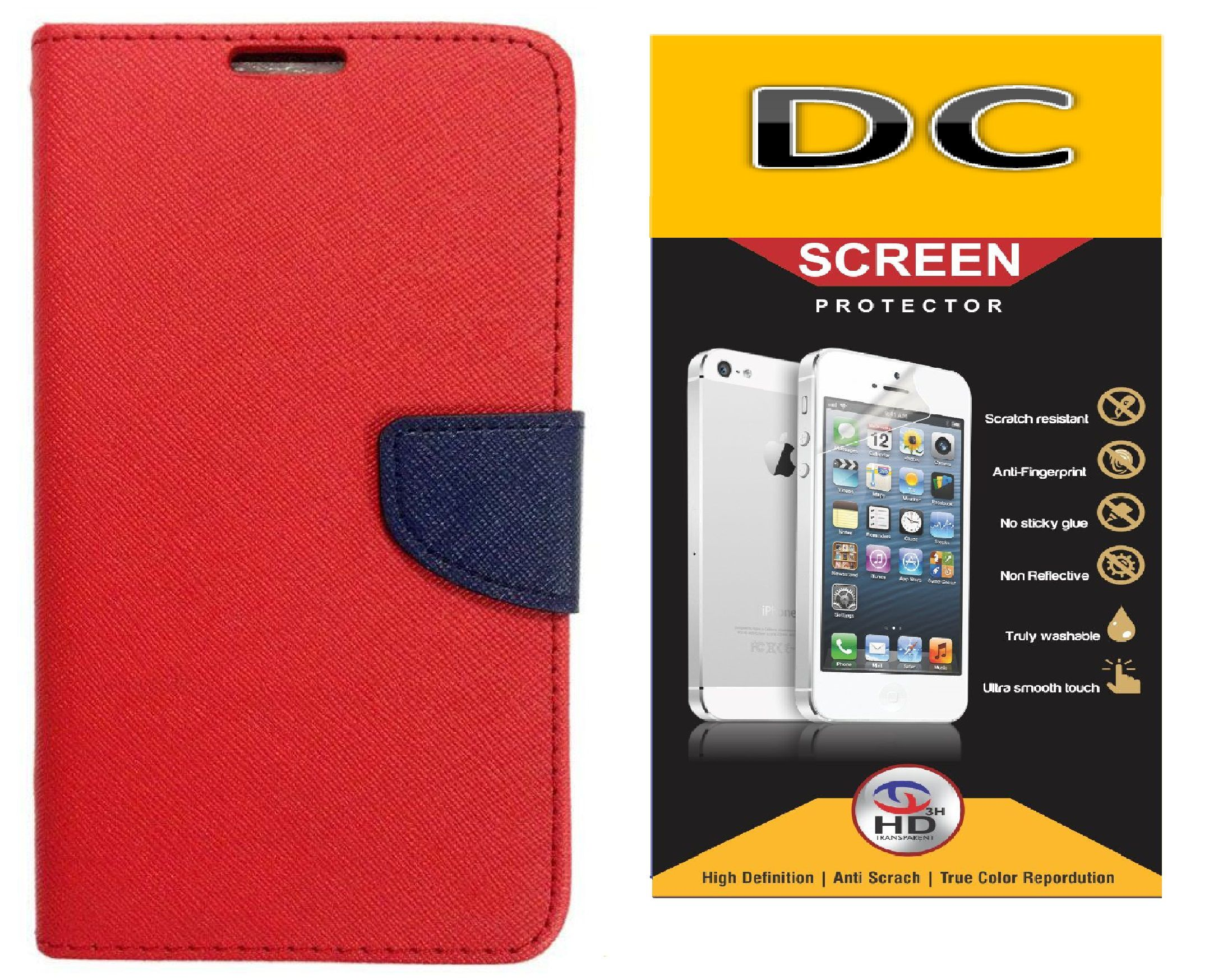 Doyen Creations Flip Covers And Tempered Glass For  Xiaomi Mi Note
