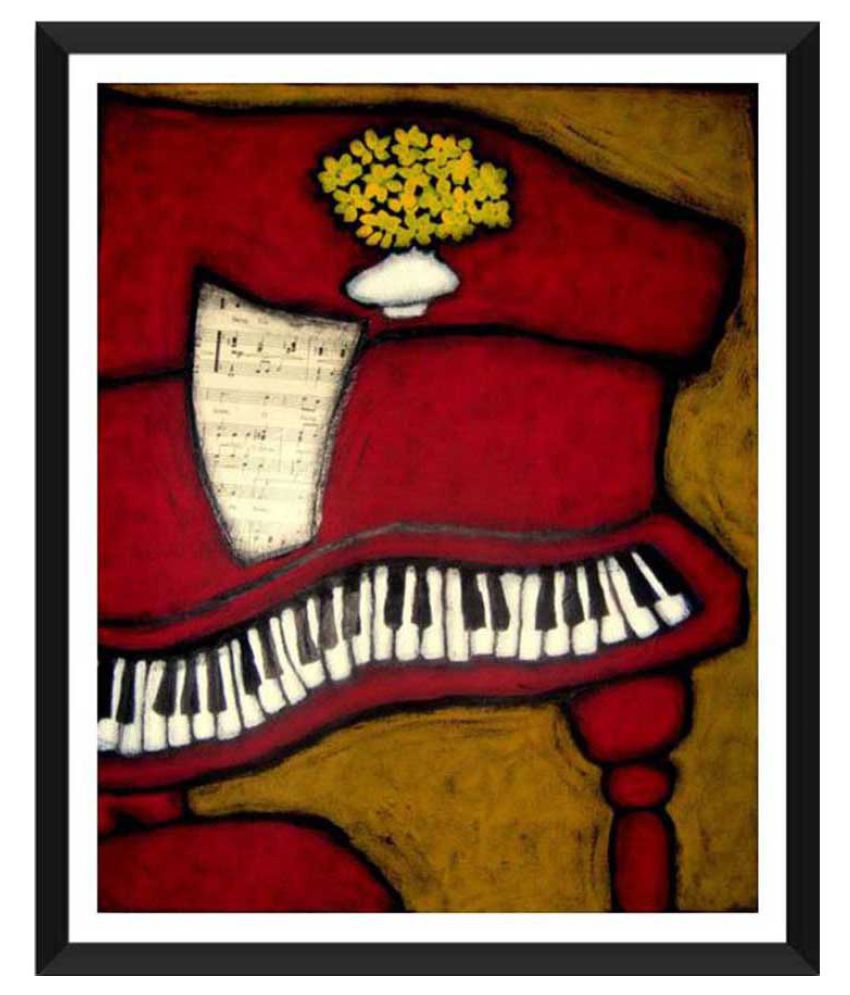 Tallenge The Piano Paper Art Prints With Frame Single Piece