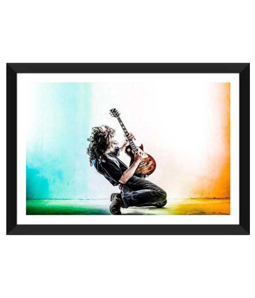 Tallenge The Rock Guitarist Paper Art Prints With Frame Single Piece