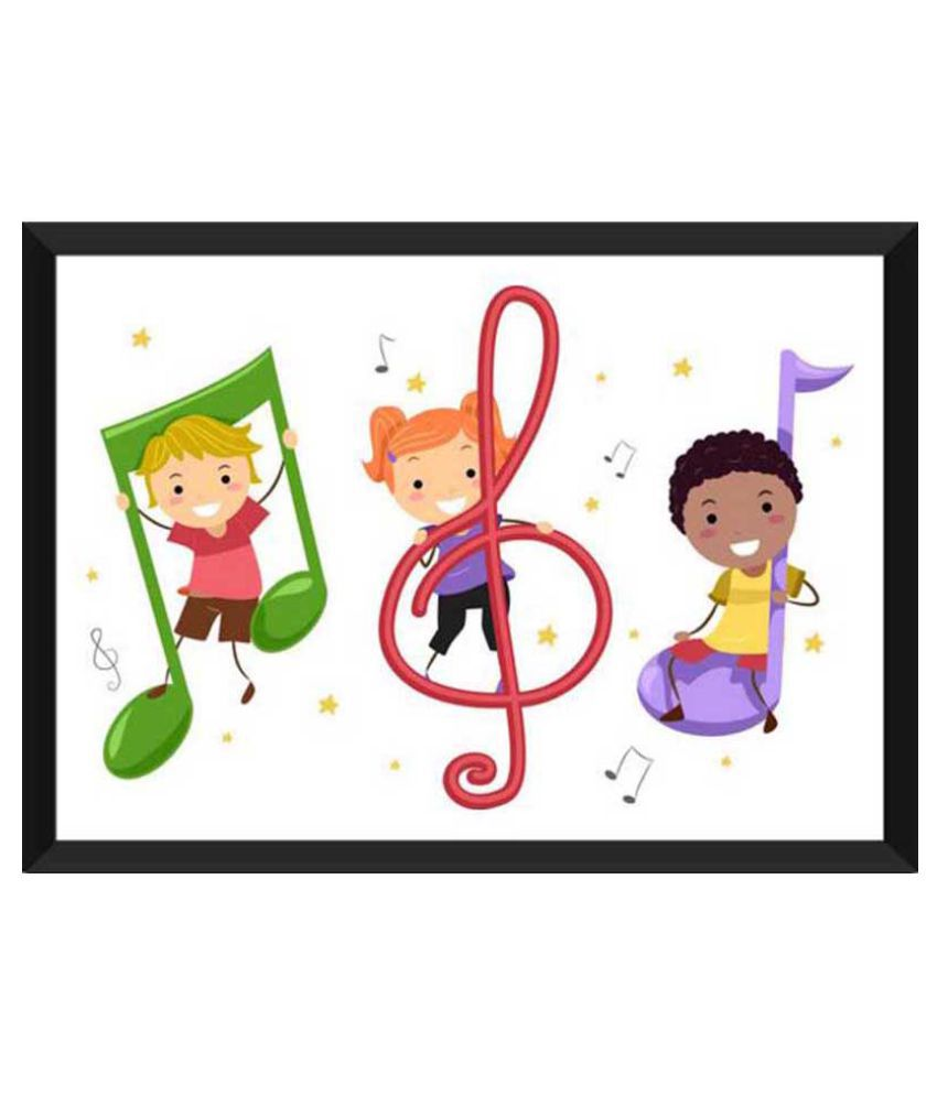 Tallenge Children Are The Future Of Music Ready to hang Paper Art Prints With Frame Single Piece