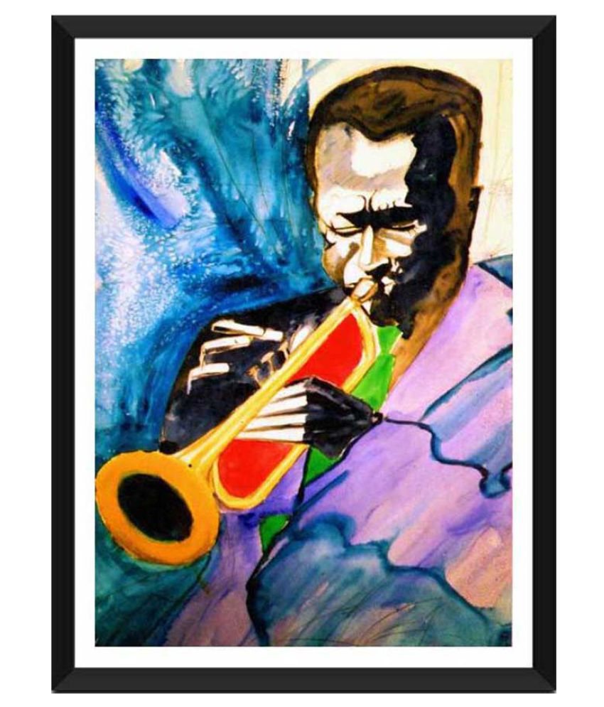 Tallenge Miles Davis Ready to hang Paper Art Prints With Frame Single Piece