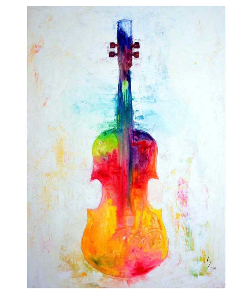 Tallenge The Colorful Violin Rolled Paper Art Prints Without Frame Single Piece