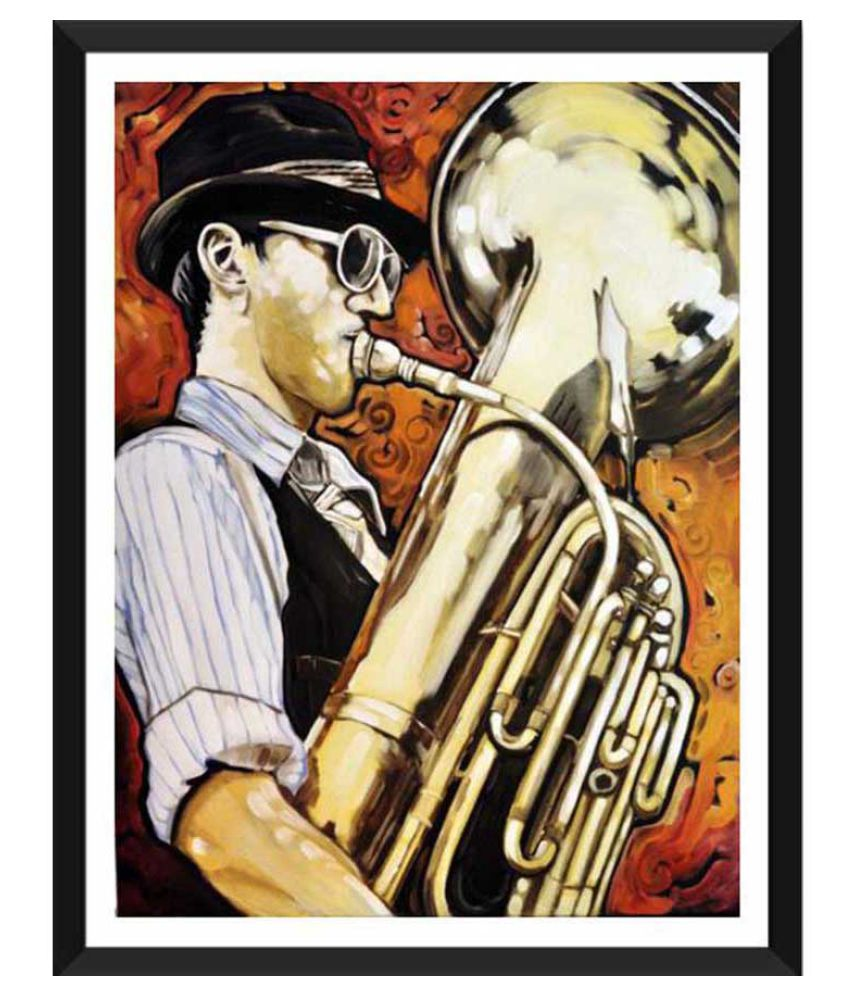 Tallenge The Saxophonist Paper Art Prints With Frame Single Piece