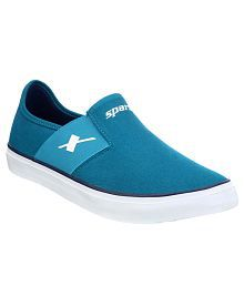 Sparx SC0214G Green Canvas Casual Shoes