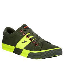 Sparx SC0215G Green Canvas Casual Shoes