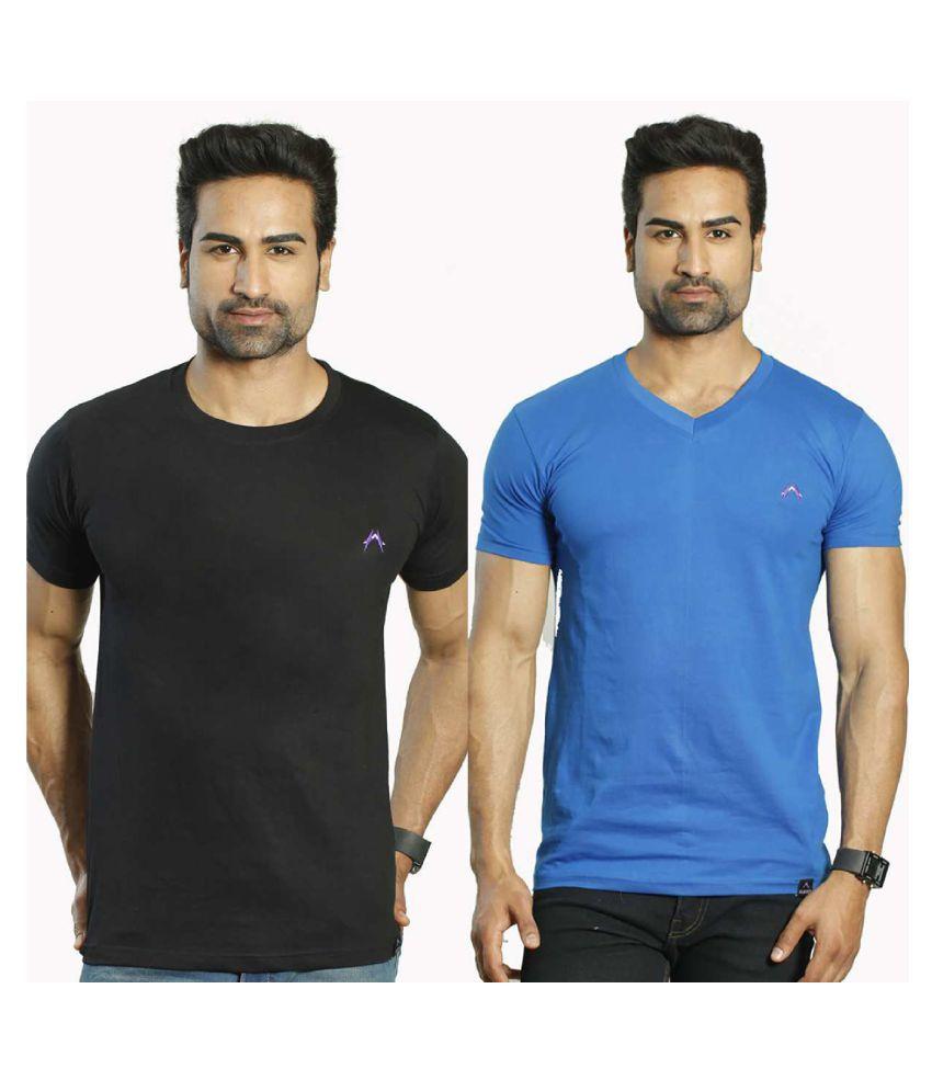 Albiten Multi Round T-Shirt Pack of 2