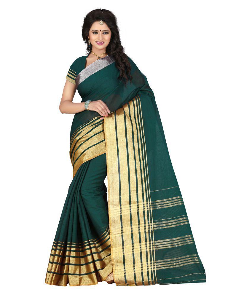 Kunika Sarees Green Cotton Saree