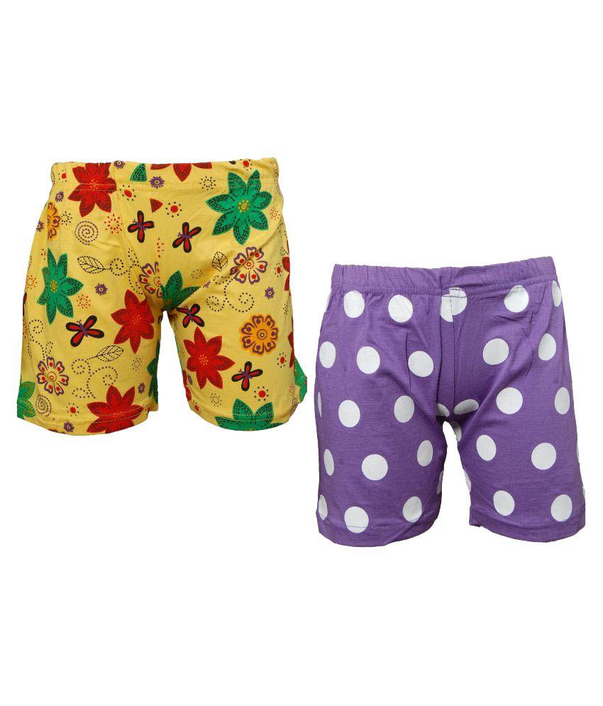 Little Stars Multicoloured Cotton Bermudas (Pack of 2)