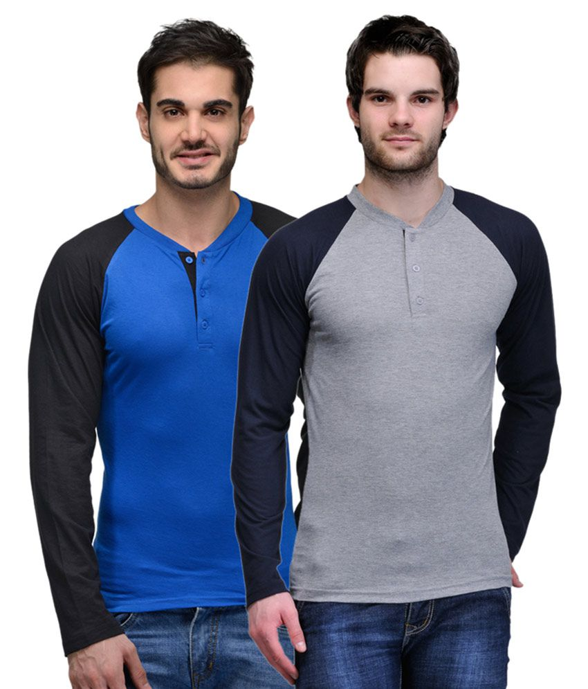 TSX Multi Henley T-Shirt Pack of 2