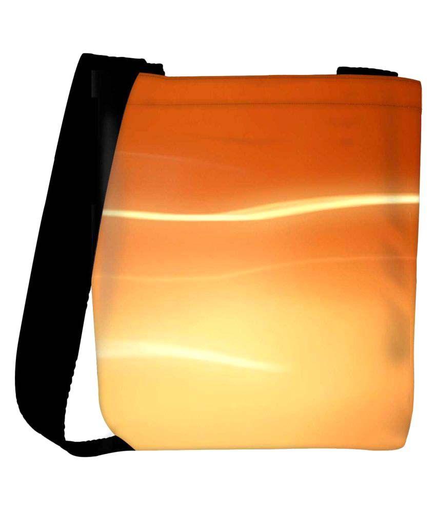 Snoogg Yellow Fabric Sling Bag