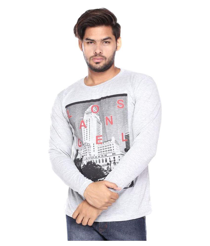 Vishal Mega Mart White Round T-Shirt