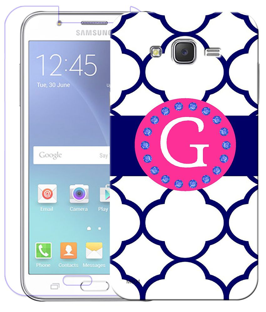 FineArts Combo of G Alphabet Quotes HD UV Printed Mobile Back Cover and Tempered Glass Screen Guard For Samsung Galaxy Grand 2