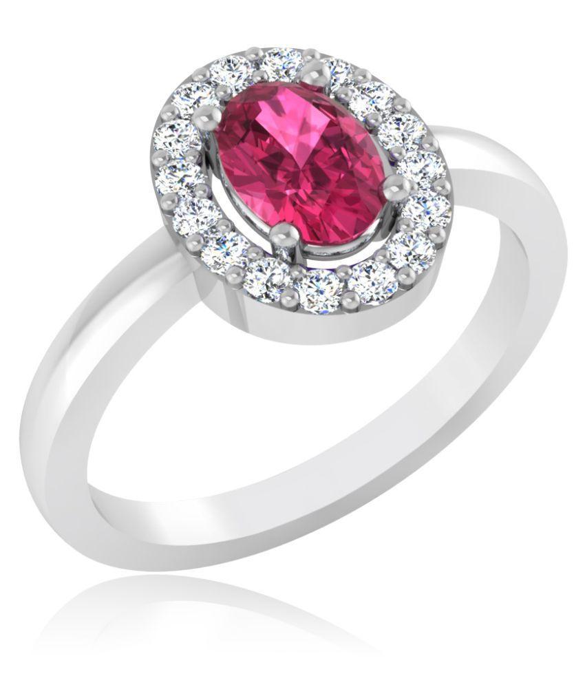 Carat Forever 18k White Gold Tourmaline Ring