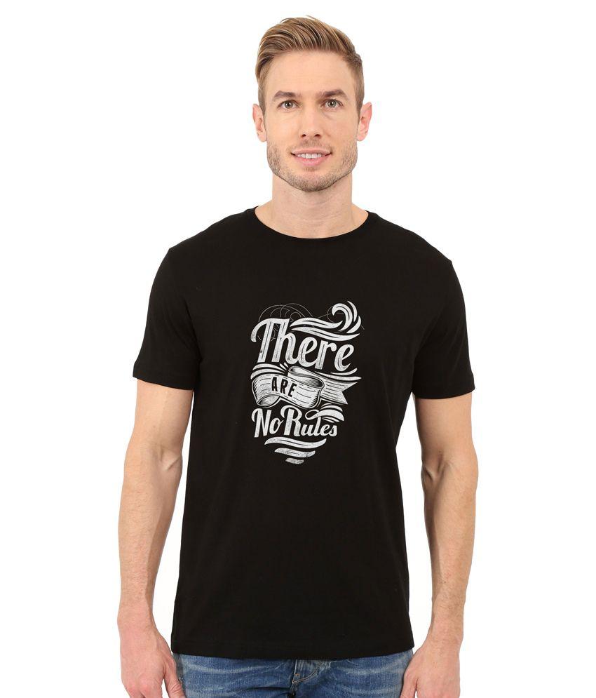 Redfool Fashions Black Round T-Shirt
