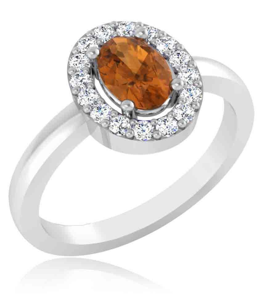 Carat Forever 18k White Gold Citrine Ring