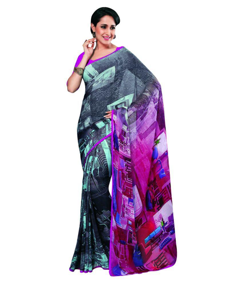 6d74adeda19 Vipul Sarees Multicoloured Georgette Saree Price in India