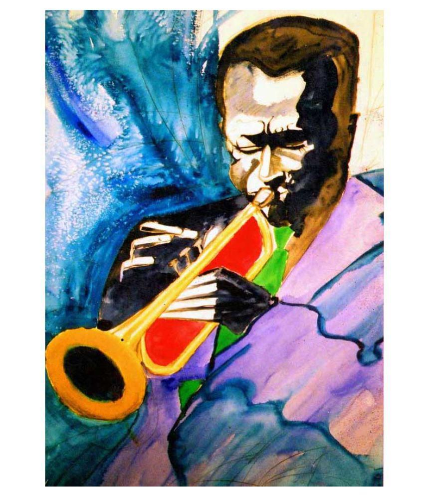 Tallenge Miles Davis Rolled Canvas Art Prints Without Frame Single Piece