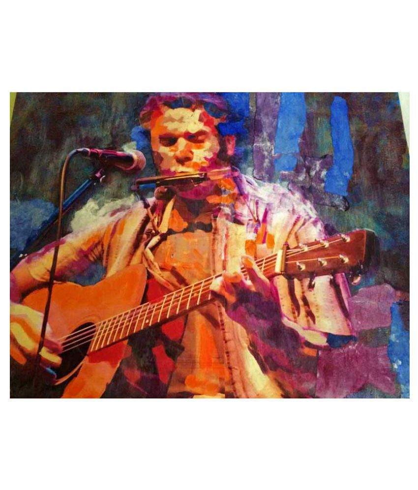 Tallenge The Musician Rolled Canvas Art Prints Without Frame Single Piece