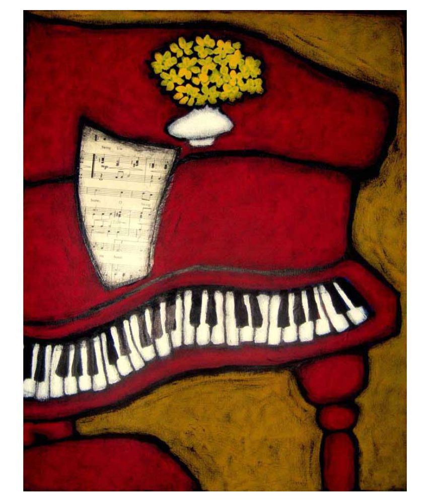 Tallenge The Piano Rolled Canvas Art Prints Without Frame Single Piece