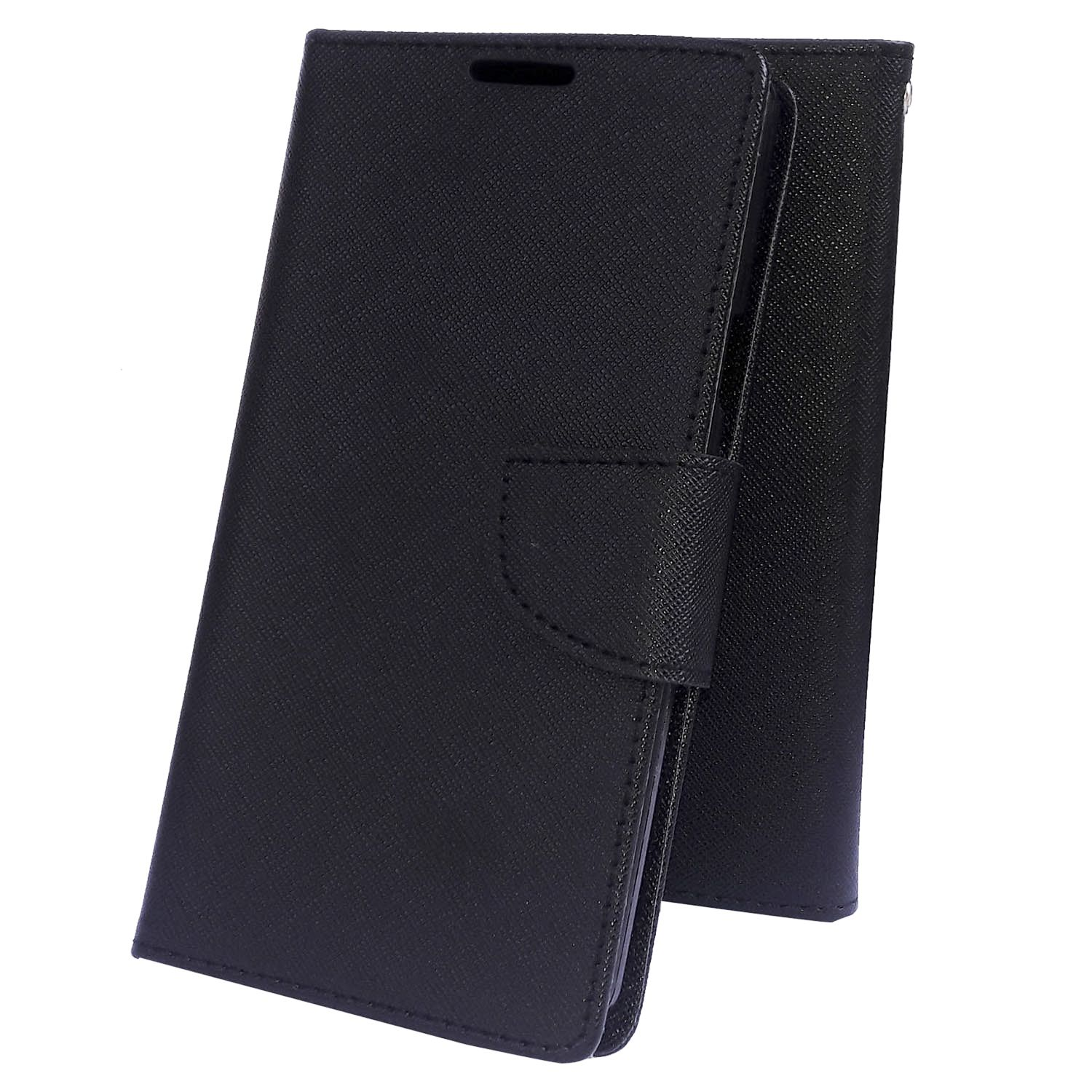 Samsung Galaxy Note 3 neo Flip Cover by Moblo - Black