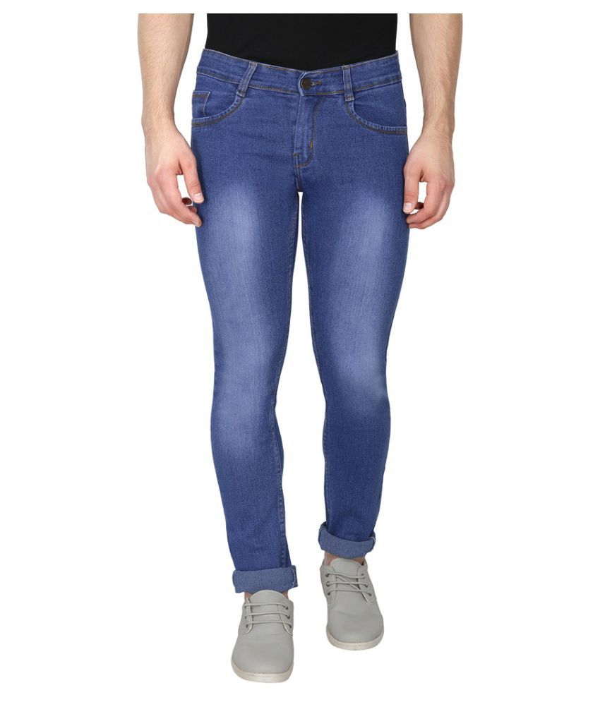 Routeen Blue Slim Washed