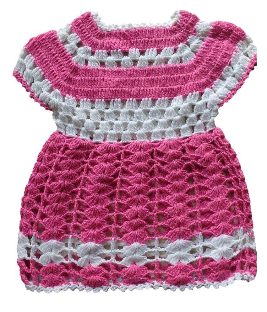 The Creators Pink Woolen Frock