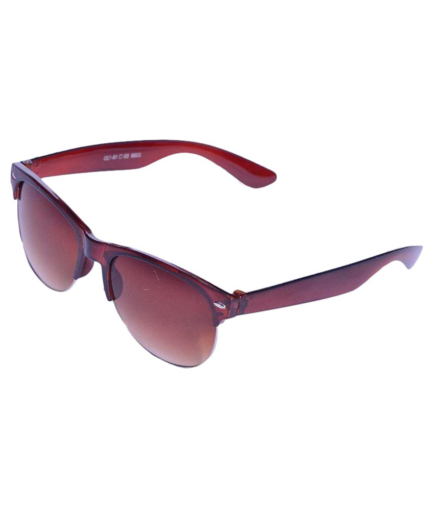 Whay Maroon Wayfarer Sunglasses ( Ws059 )